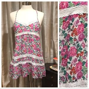 Abercrombie & Fitch Floral and Lace Dress Sz M